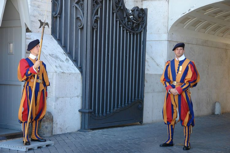 Adult Day Full Length Guard Guardian Looking At Camera One Man Only One Person Only Men Outdoors People Portrait Real People Security Standing Traditional Traditional Clothing Vatican Vatican Guards