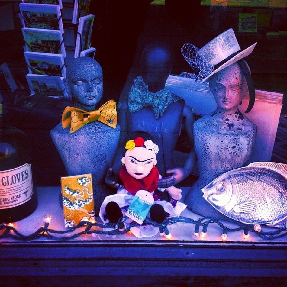 Frida Has A Posse Frida_kahlo  Doll Mannequin Bow_tie fascinator window