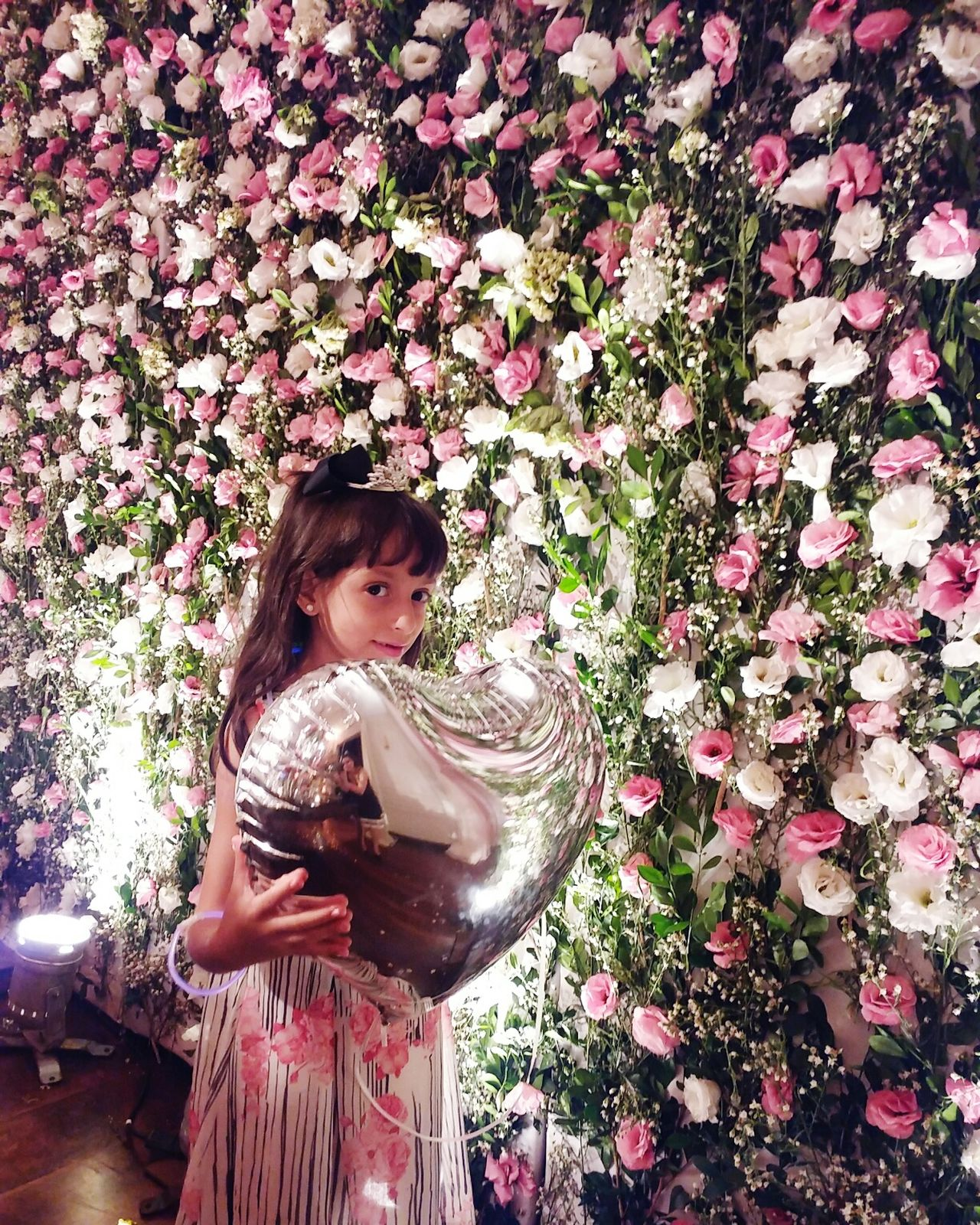 One Person Childhood Standing Indoors  People Real People Roses Are Pink Roses Collection Roses Flowers  Mygirly Daughter Smiles