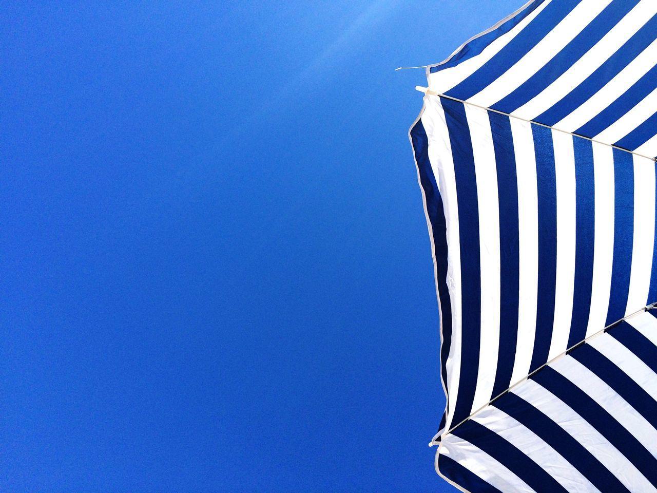 Beautiful stock photos of umbrella, Barcelona, Beach Umbrella, Blue, Clear Sky