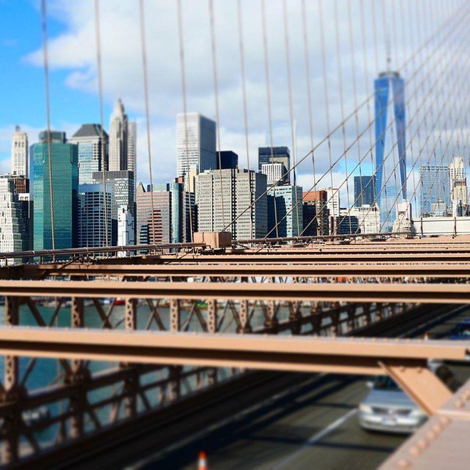 Newyork Skyline Summer Brooklynbridge Sommar Tiltshift ImagesofNYC