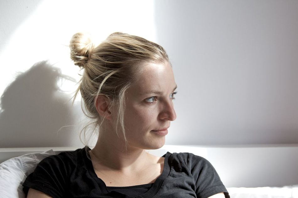 Bedroom Blond Hair Close-up Day Day Dreaming Daydreaming Headshot Light And Shadow Morning One Person Portrait Of A Friend Portrait Of A Woman Portrait Photography Real People Wake Up Woman Woman Portrait Young Women