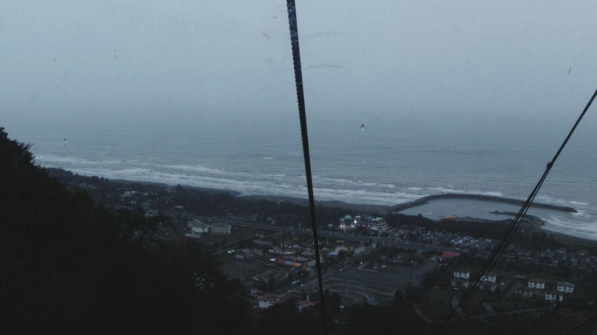 Iran Mazandaran Ramsar Telecabine Heigh Rain Fog Sea Rainy Foggy