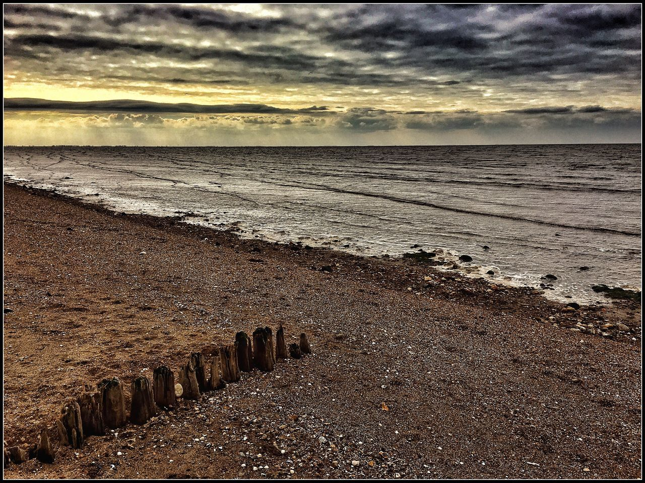 beach, sea, nature, tranquility, horizon over water, beauty in nature, water, tranquil scene, sand, scenics, sky, no people, outdoors, cloud - sky, sunset, day