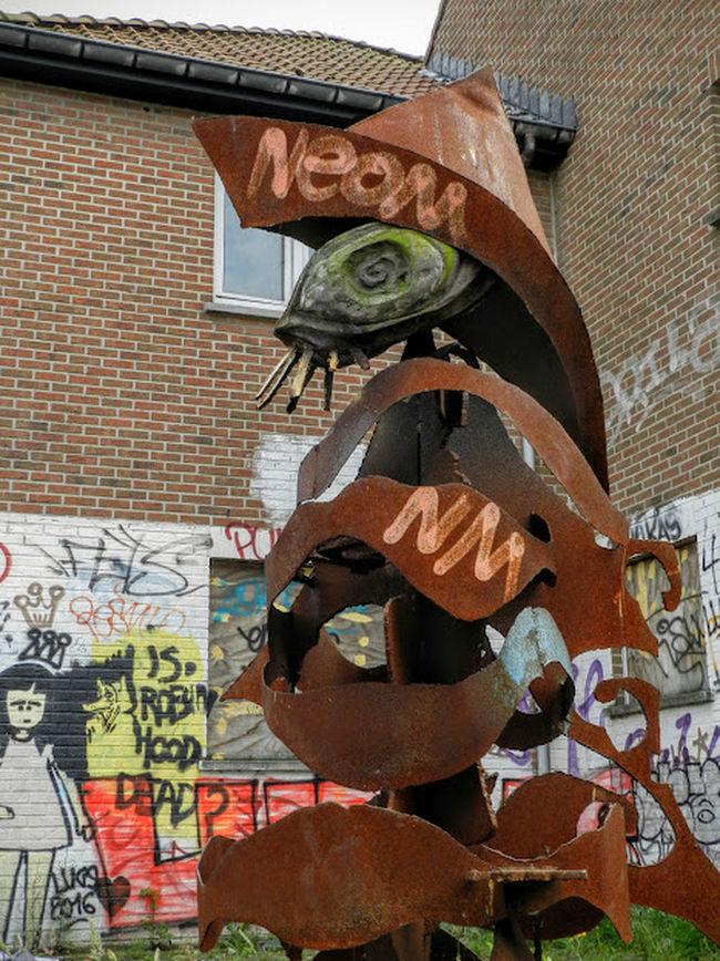 Abondened Places Architecture Art Doel België Graffiti Art Grafitti Statue Urban