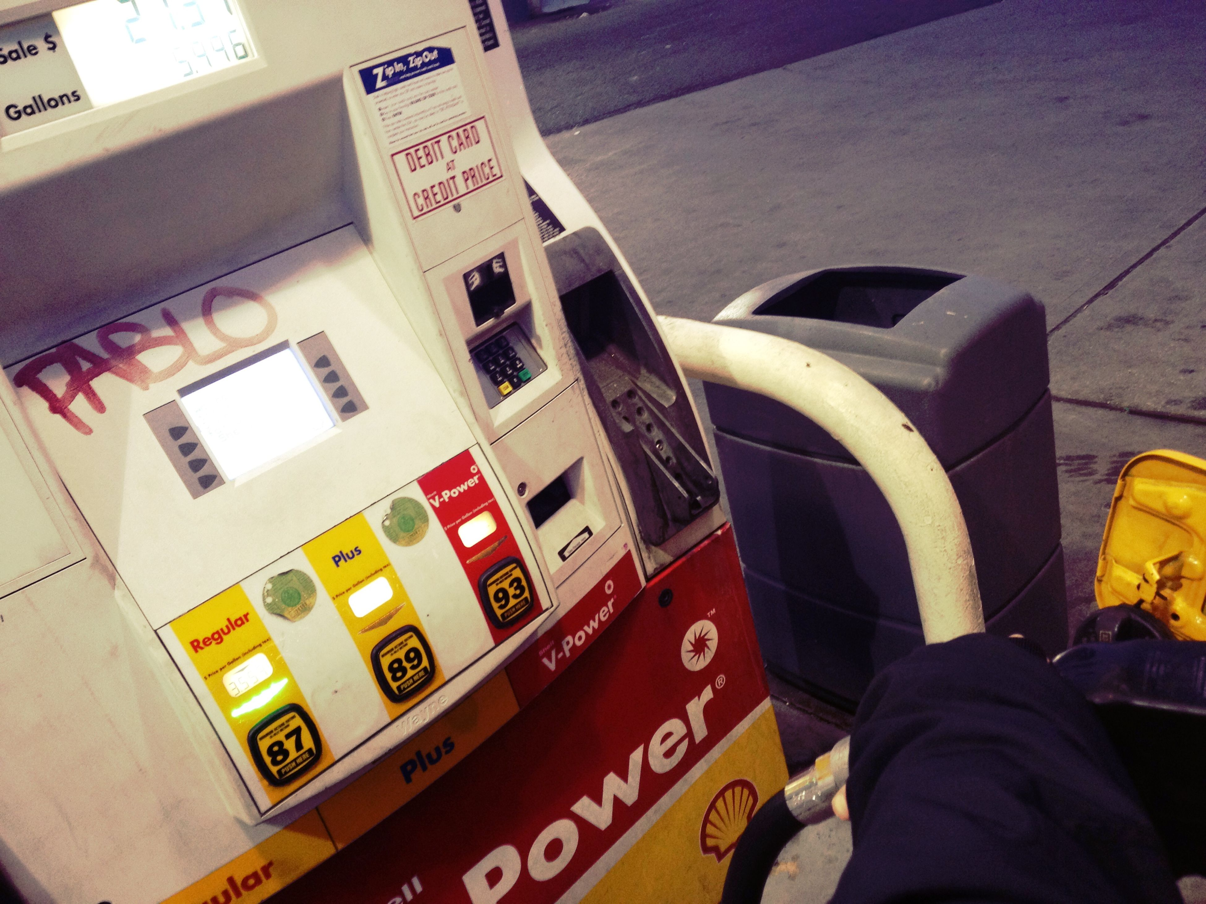 wrapping up at Shell Gas Station Wrapping Up