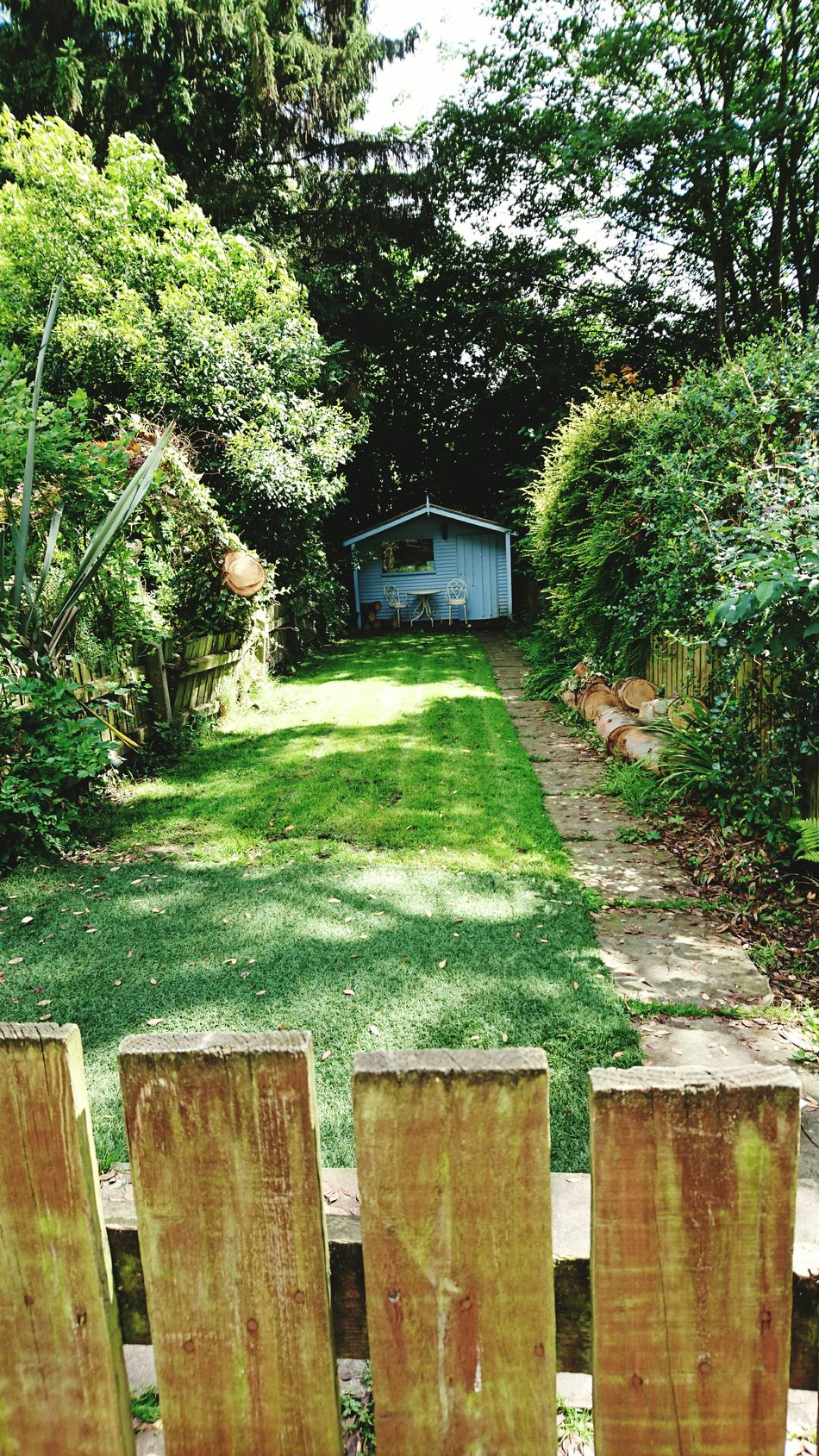 Garden Peace And Quiet Tranquility Green Nature On Your Doorstep Natural Beauty Lawn City Suburb Away From It All Hidden Places Check This Out Taking Photos Hello World Heaton Mersey, Stockport, UK.