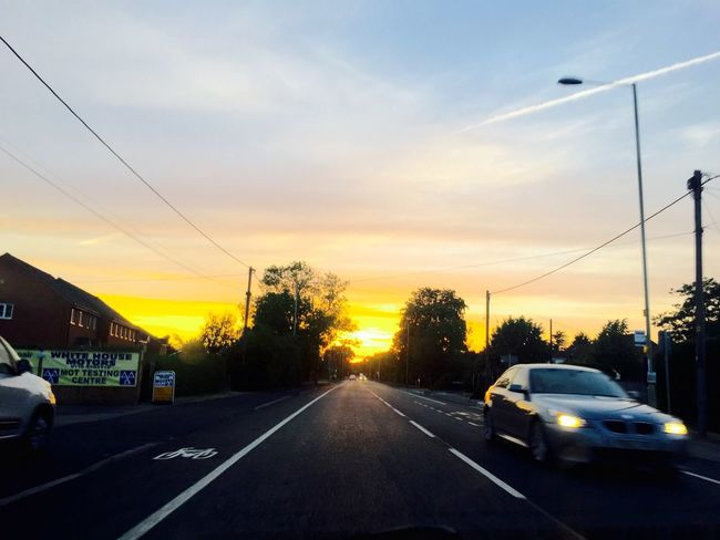 Road Ontheroad Check This Out IPhoneography Car Sunset Summer Evening Enjoying Life