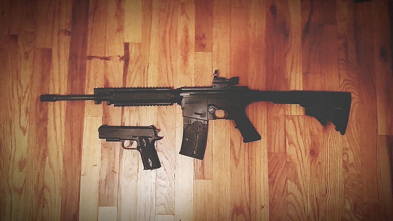 Beautiful stock photos of waffen, Gun, High Angle View, Indoors, Man Made Object