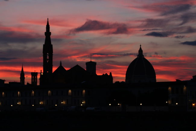 Architecture Arno  City Cloud - Sky Clouds And Sky Florence Florence By Night Florence Skyline Mirroring In Water Reflection Renaissance Skyline Sunset Tuscany