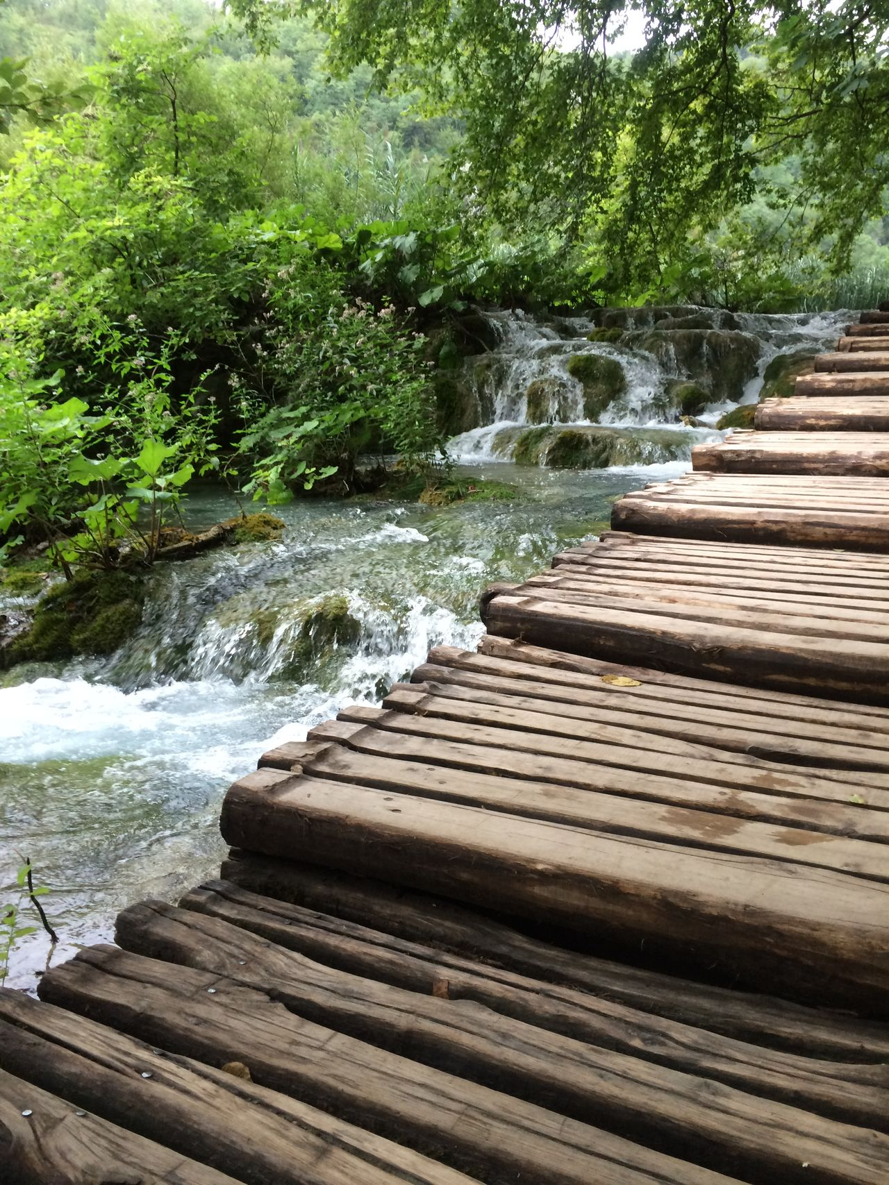 Absence Architecture Built Structure Crowded Day High Angle View Leading Narrow No People Outdoors Plitvice National Park The Way Forward Town TOWNSCAPE Vacations Waterfall Waterstairs Wood Wooden Stairs