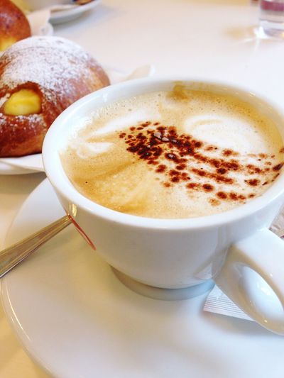 Good Morning Hello World Love Cuppuccino Time For Breakfast  Have A Nice Day♥ Mytravelgram Italy Italia Italian Food Italian Caffe Italian Cappuccino MyGallery EyeEm Gallery