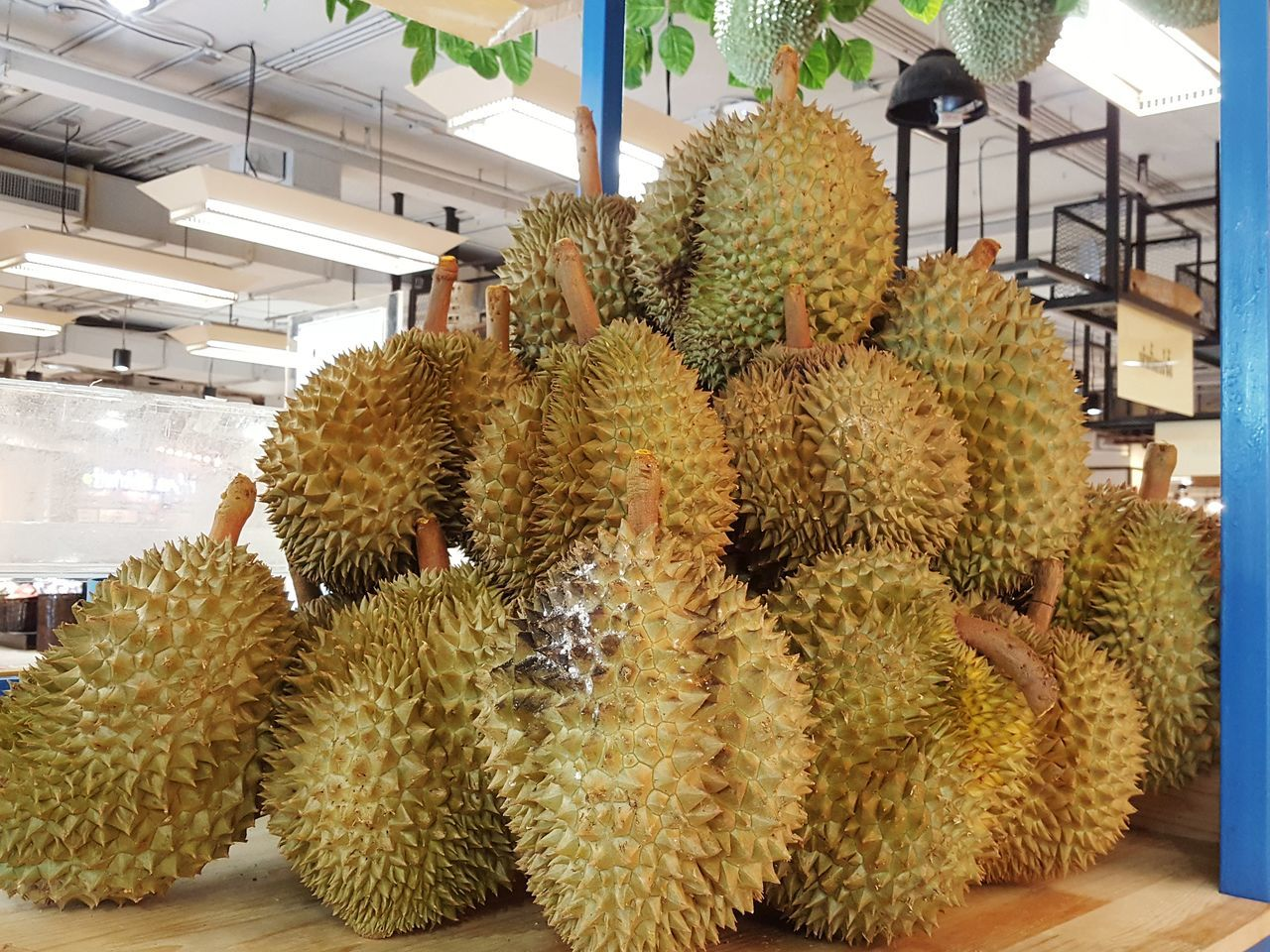 Fruit Stall Durian Stall Fruit Spiked Durian Tropical Fruit