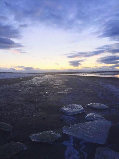 Beach Alaska Ice Winter Ocean Outdoors Sunrise Surf