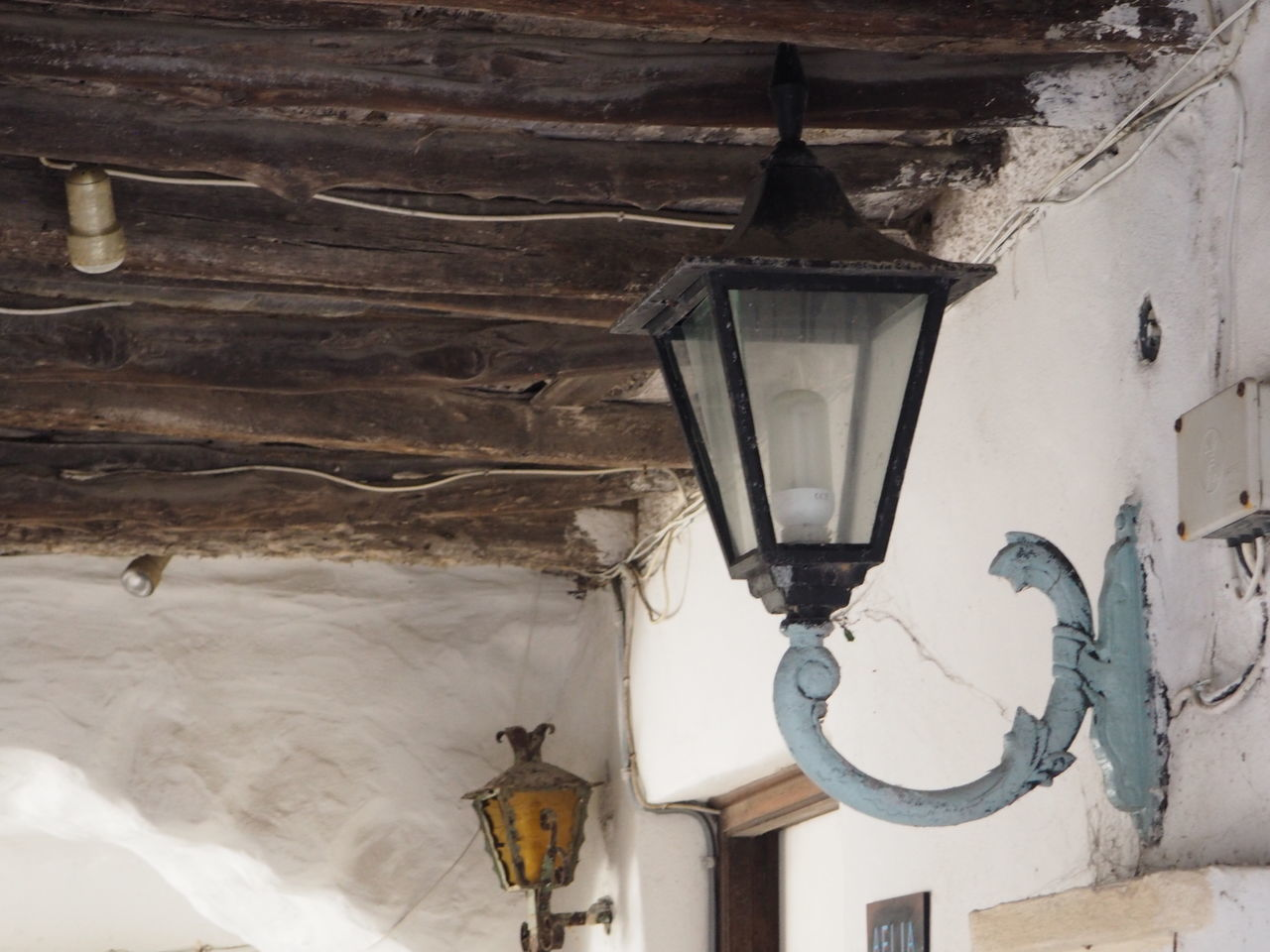 Close-up Fixture Hanging Lantern Lantern Light Old Old Buildings