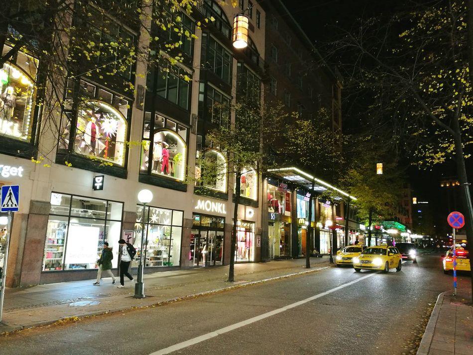 Night Illuminated Architecture City Stockholm Stockholm, Sweden Stockholm City City Life улица стокгольм Outdoors Nightlife Architecture City Street City Street Street Light