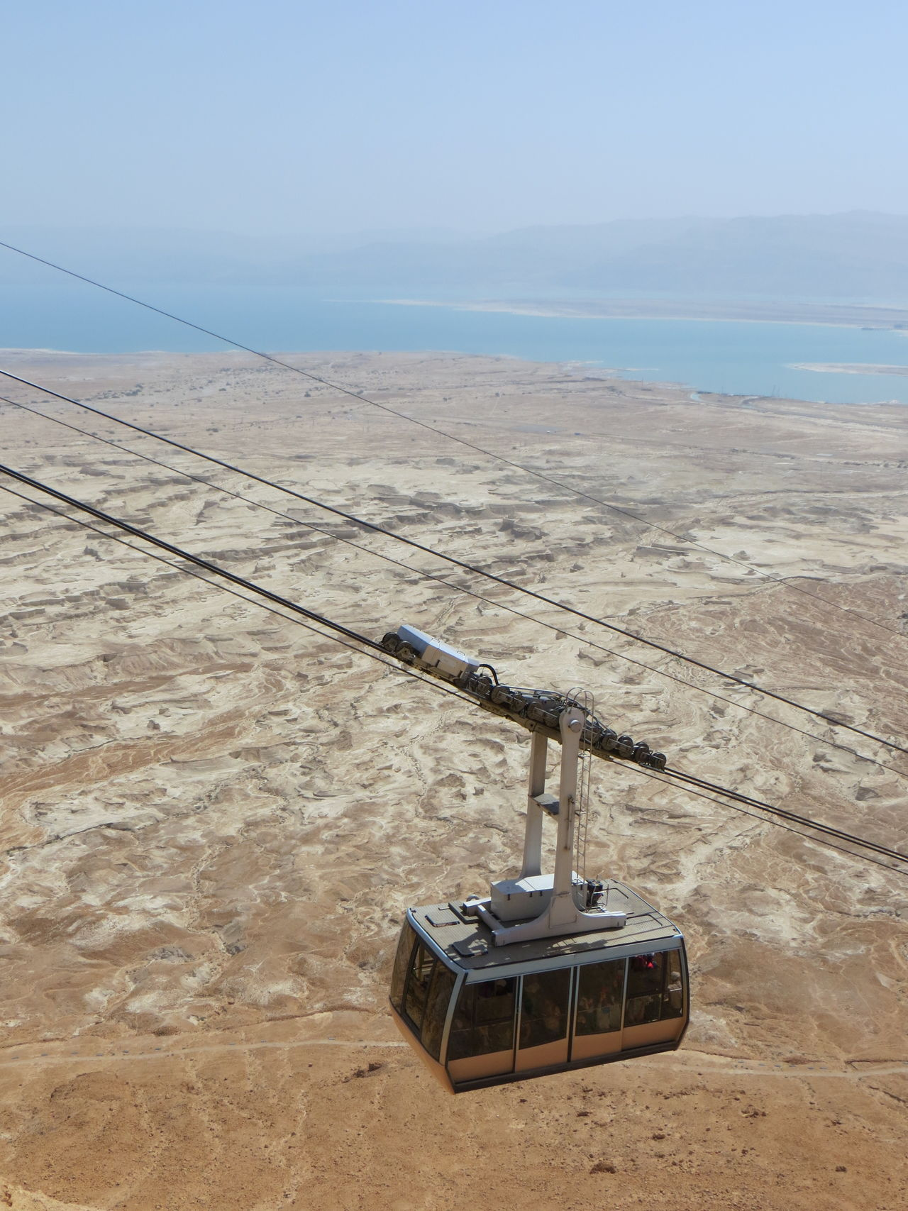 Arid Climate Composition Cropped Deadsea Distant Exploring Fishing Full Length Funicular Hobbies Israel Leisure Activity The KIOMI Collection Masada Men Mode Of Transport Outdoors Overhead View Part Of Perspective Real People Top Perspective Transportation Trip Learn & Shoot: Balancing Elements