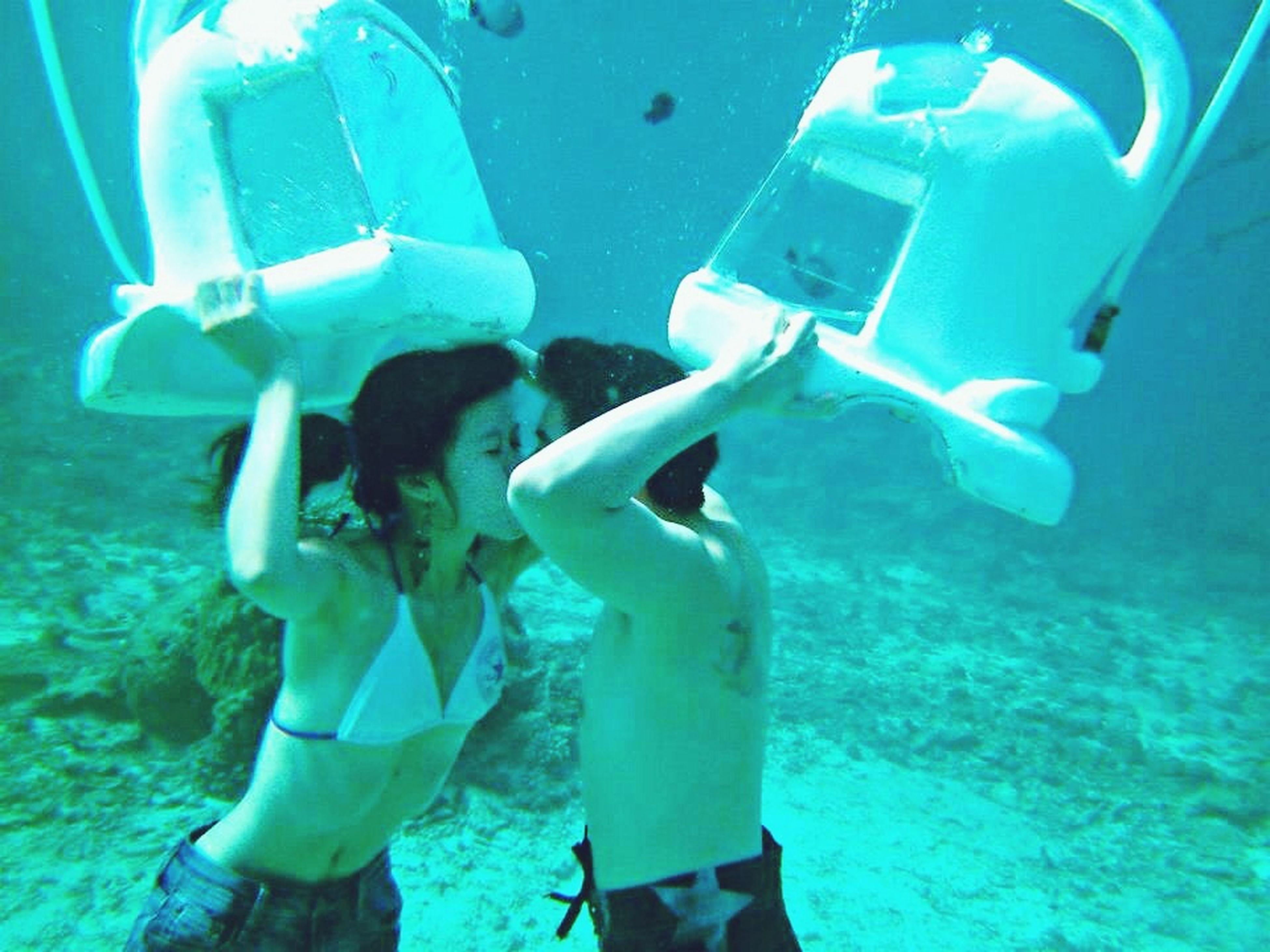 blue, underwater, undersea, sea, swimming, water, sea life, transportation, fish, leisure activity, men, animal themes, lifestyles, mode of transport, adventure, travel, scuba diving, full length