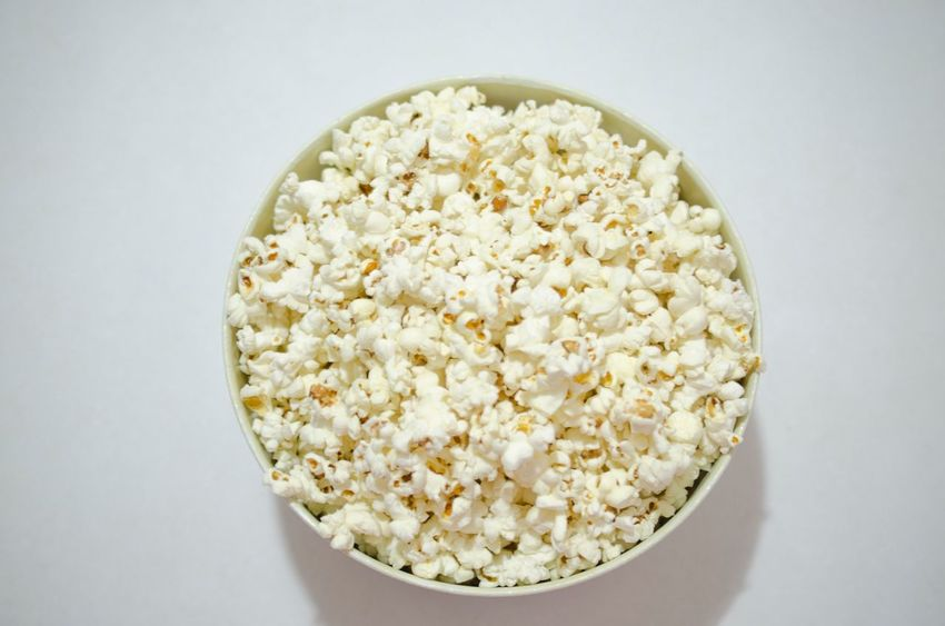 Popcorns Food And Drink Food Bowl Still Life White Background White Color Healthy Eating Close-up No People Cooked Serving Size Freshness Indoors  Ready-to-eat