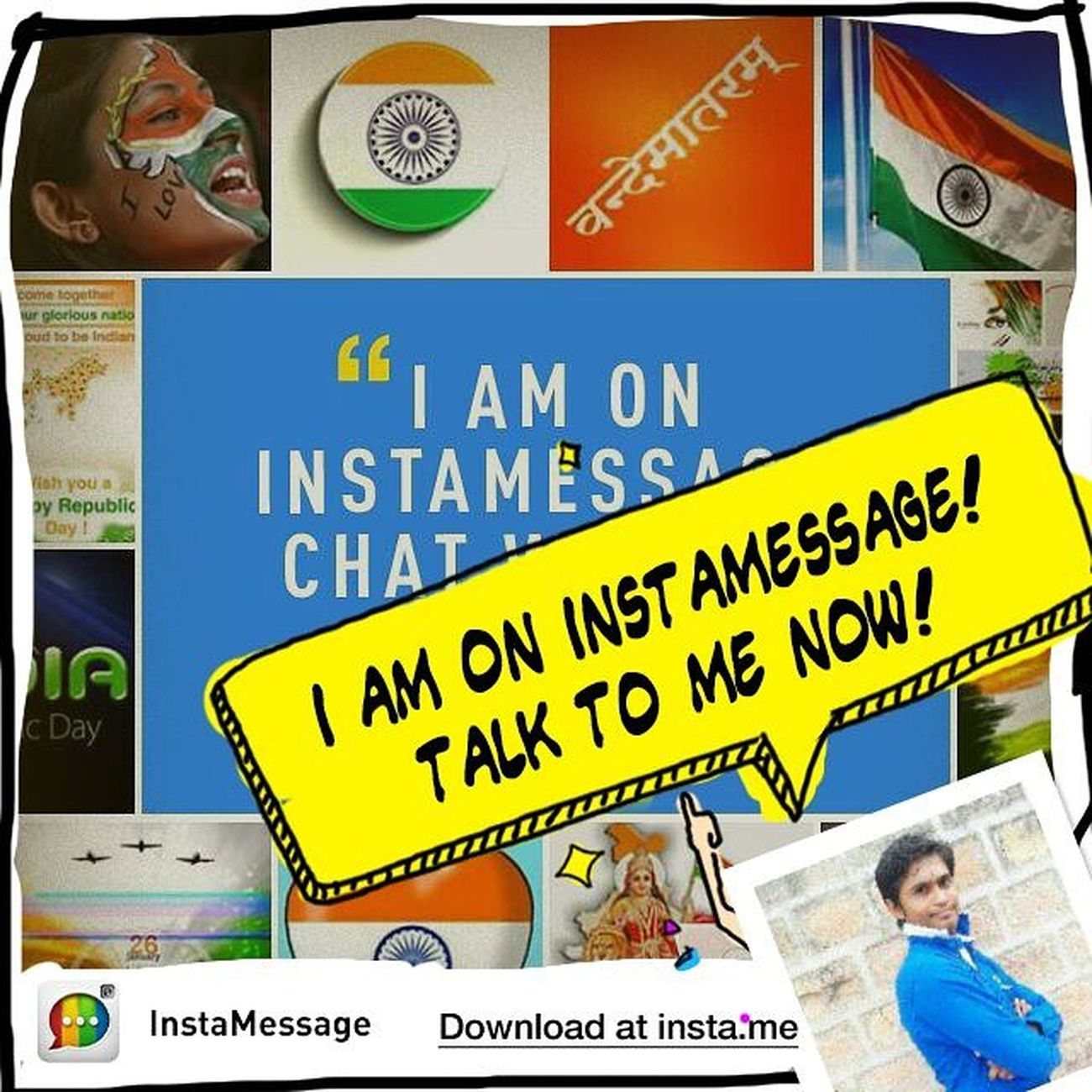 Hizaa! There is a REAL messaging app for Instagram users!Go to @instamessage_app download and chat with me now! Instamessage Happyrepublicday Republicday JaiHind VandeMataram IndianRepublicDay