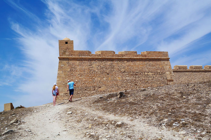 Two Is Better Than One Sky Clouds Architecture Built Structure Tourism Cloud - Sky Tourist Vacations History Building Exterior Old Ruin Fort NX2000 Mahdia Tunisia