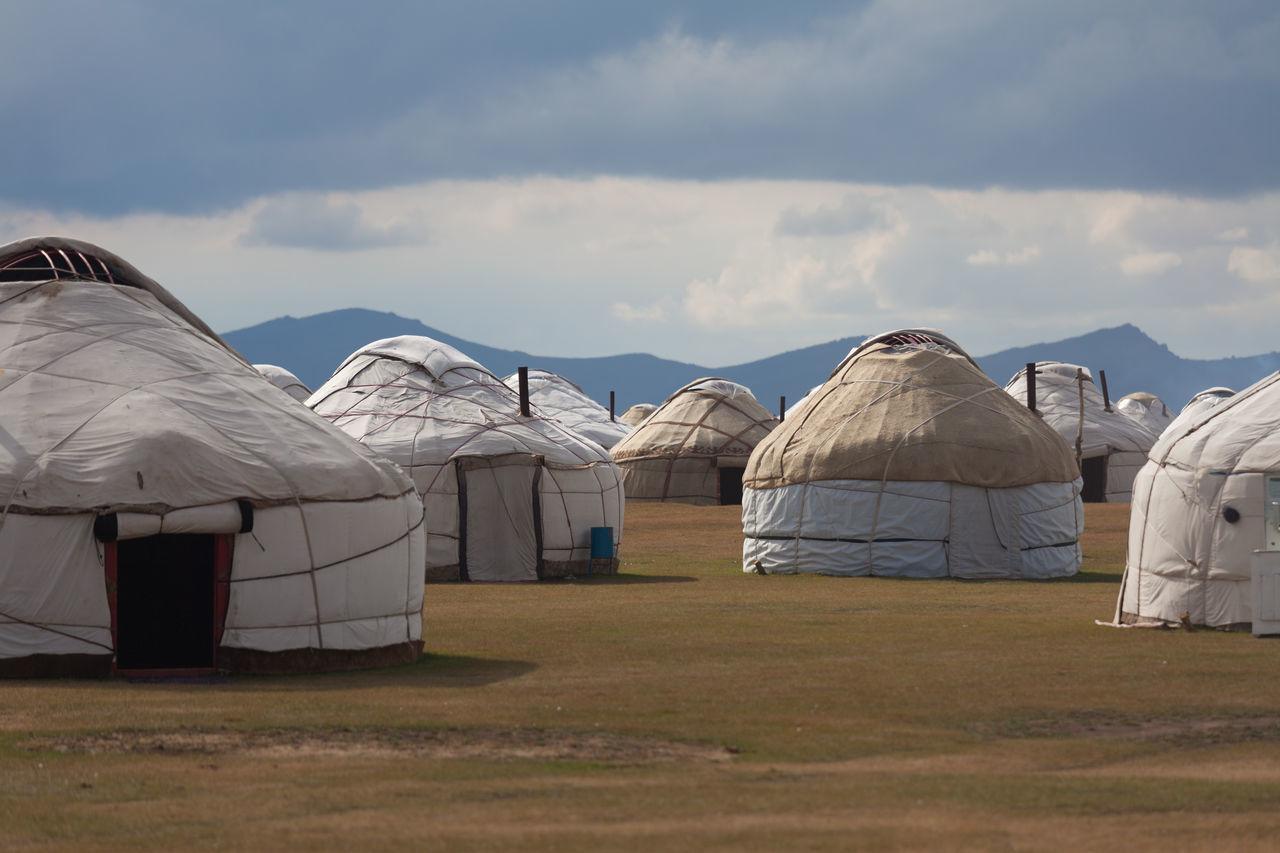 Yurt camp at Kyrgyzstan. Accommodation Adventure Kyrgyzstan Nature NOMAD Outdoors Tourist Travel Wanderlust White Yurt Camp