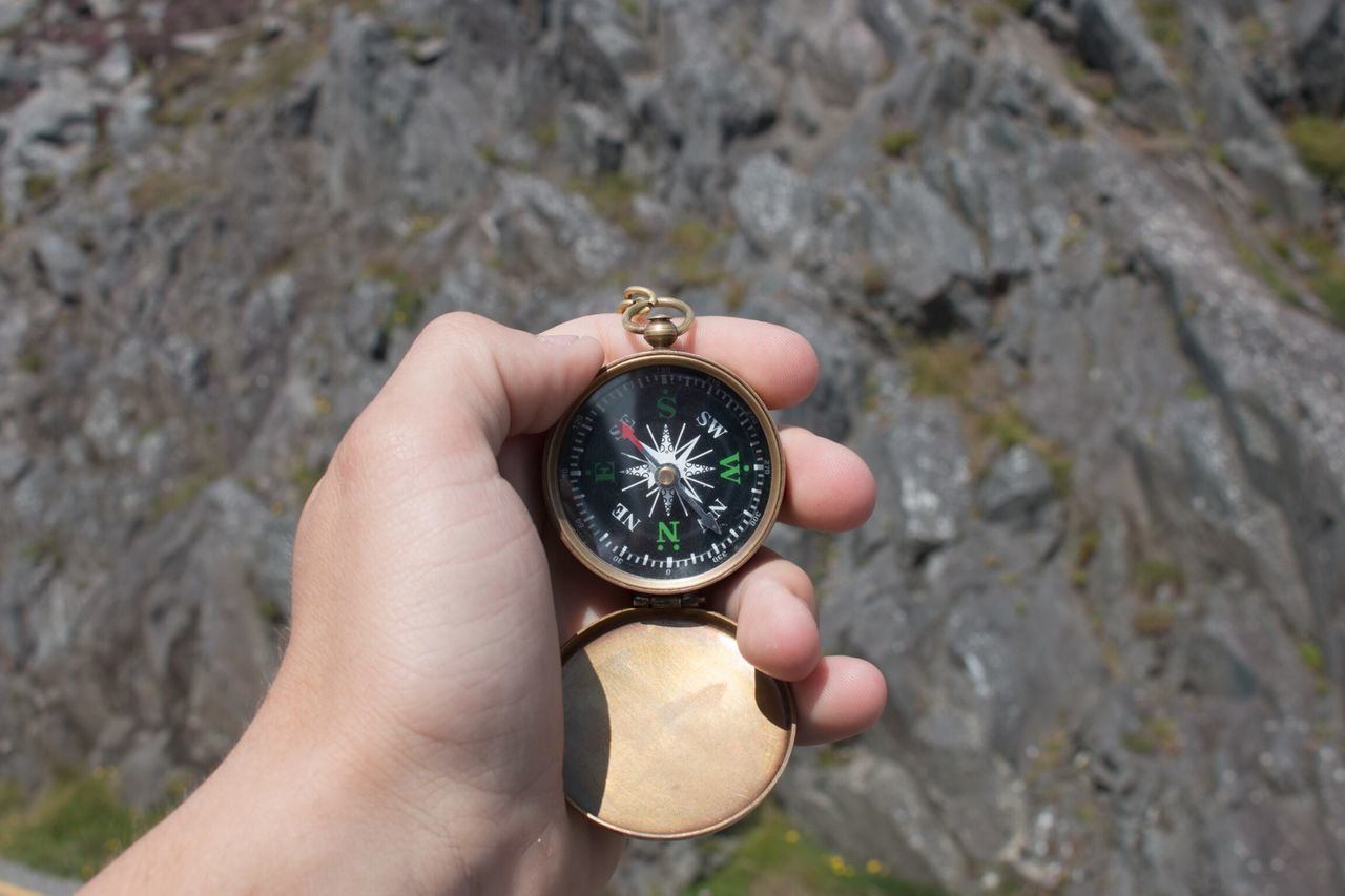 Beautiful stock photos of camping, Compass, Day, Focus On Foreground, Holding