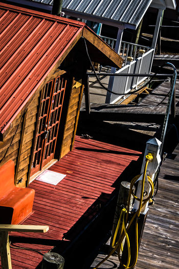 Boathouses Architecture Boathouses Built Structure Day Low Angle View No People Outdoors Staircase