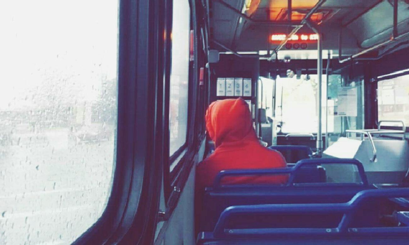 Public Transportation City Bus Rain Photography -Cynthia