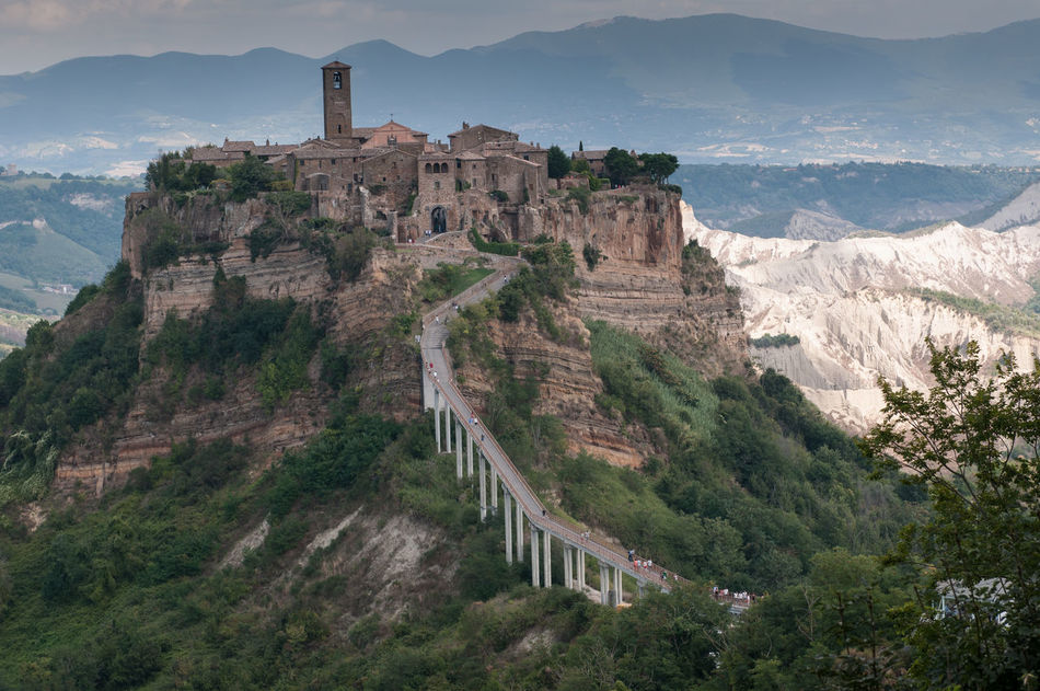 Architecture Building Exterior Civita Di Bagnoregio Day EyeEm EyeEm Best Edits EyeEm Best Shots EyeEm Gallery EyeEmBestPics High Angle View History Landscape No People Old City Relaxing Relaxing Moments Time Tourism Tower Travel Travel Destinations Vacations
