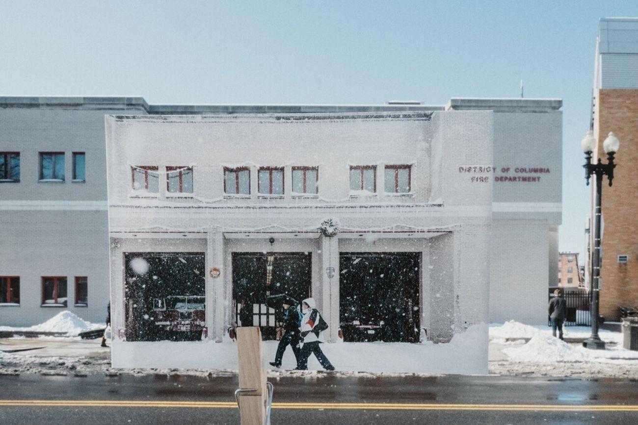 Current (2015) Washington D.C. scene + a 4x6 print from the same location in (2010) WashingtonDC DC Printanddigital Streetphotography The Moment - 2015 EyeEm Awards