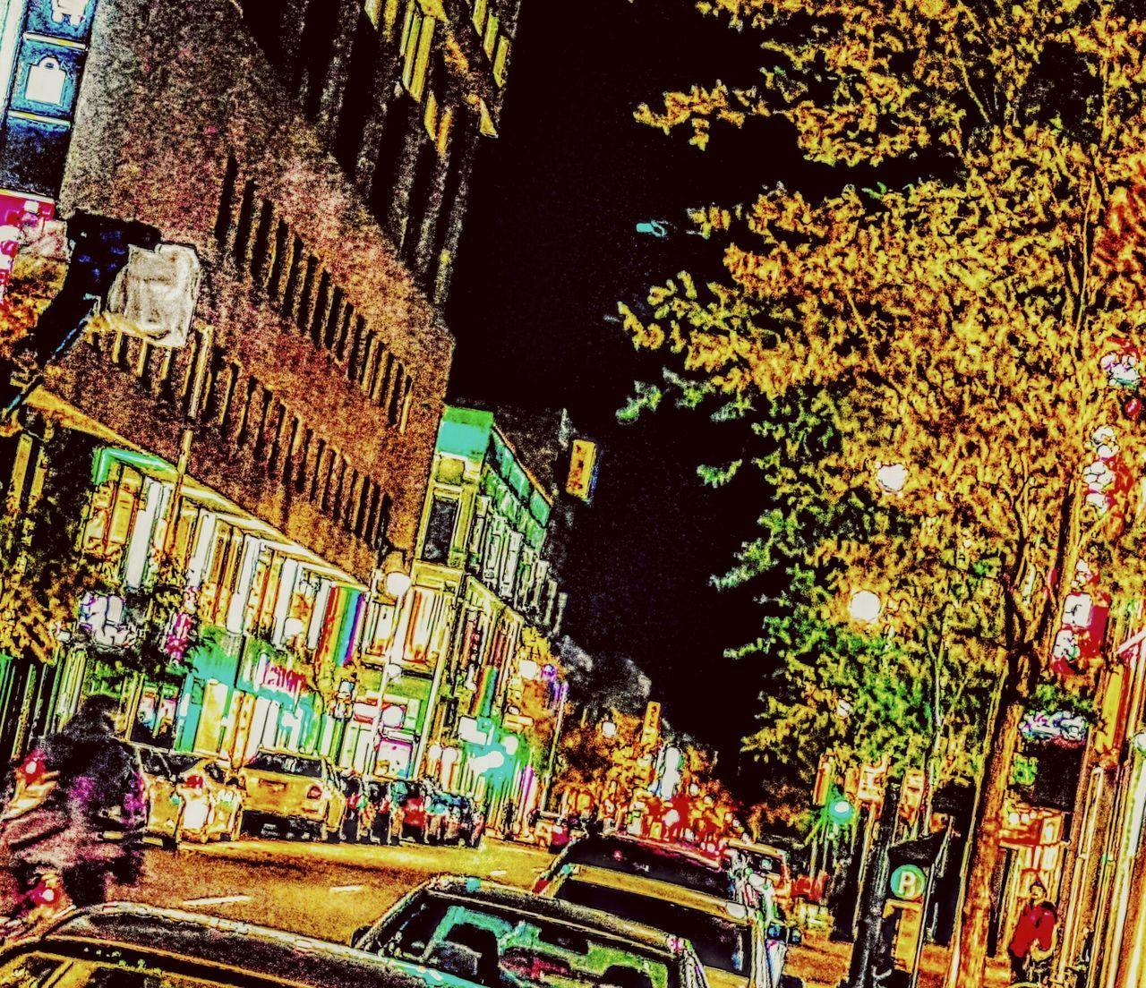 Montréal Centre-Ville Automne Automne2016 Ville City Life Autumn2016 Multi Colored City Architecture Outdoors Nuits Ciudad Centro Motion Night Lights Street Photography Streetphotography Street Photo Walkway Walking Cityscape
