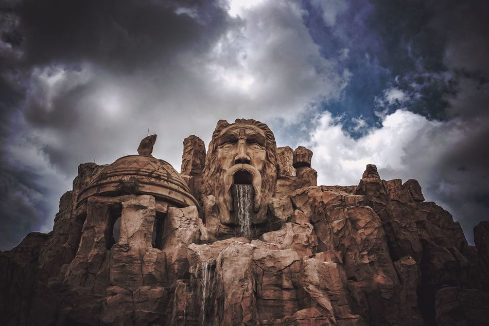 Low Angle View Sky Cloud - Sky Rock - Object Rock Formation No People Outdoors Nature Day Tranquility Beauty In Nature Scenics Sculpture
