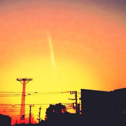 Light And Shadow Sun Set Sky