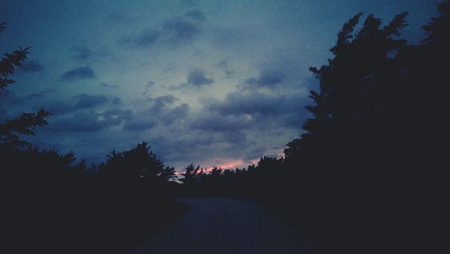 Brennender Himmel Dänemark 23:30 Pm Burning Sky Denmark