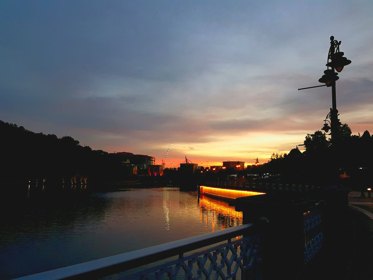 A little getaway like this would be at the top of list right now Sunset River City Water Waterfront Bridge Outdoors Nature Photography Dusky Sky