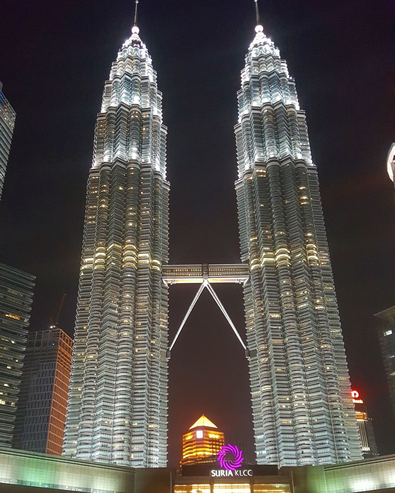 Architecture City Travel Destinations Skyscraper Travel Night Built Structure Building Exterior Low Angle View Sky Cityscape No People Modern Outdoors Cultures KLCC Twin Towers Street Photography Streetphotography Kuala Lumpur, Malaysia KLCC Tower
