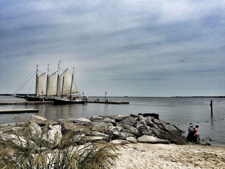 Water Sea Shore Tranquil Scene Tranquility Boat Ship Yorktown Yorktown Beach Nautical Vessel Scenics Beauty In Nature Outdoors Tourism Beach Photography Beach Life Beach Day Beachphotography Rock - Object Full Length Sky