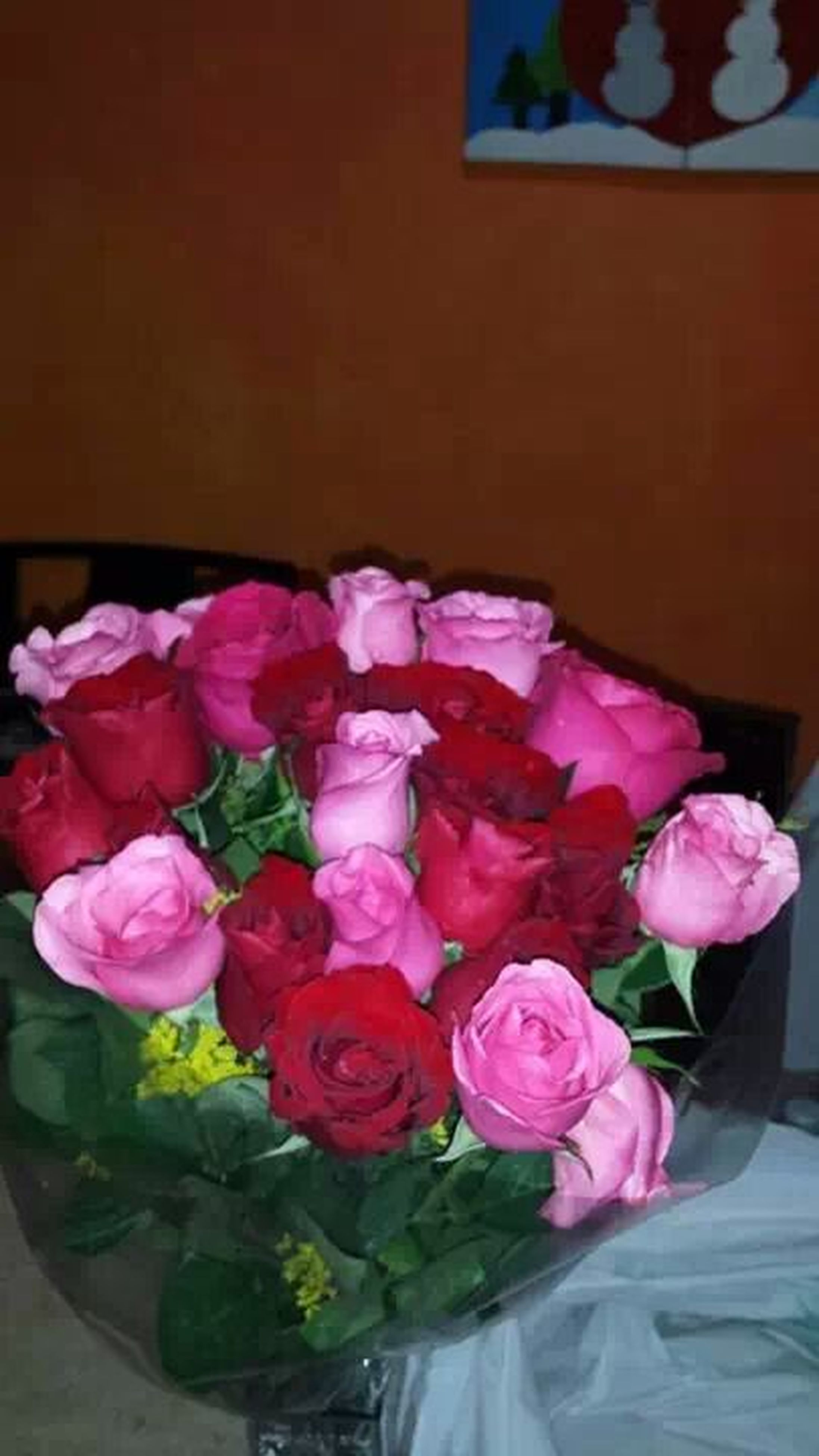 flower, freshness, fragility, indoors, petal, flower head, bouquet, vase, rose - flower, flower arrangement, beauty in nature, pink color, bunch of flowers, close-up, table, nature, tulip, variation, growth, plant