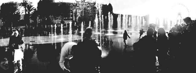 Monochrome Photography Person Black And White Panoramic Nice / Nizza Coulée Verte