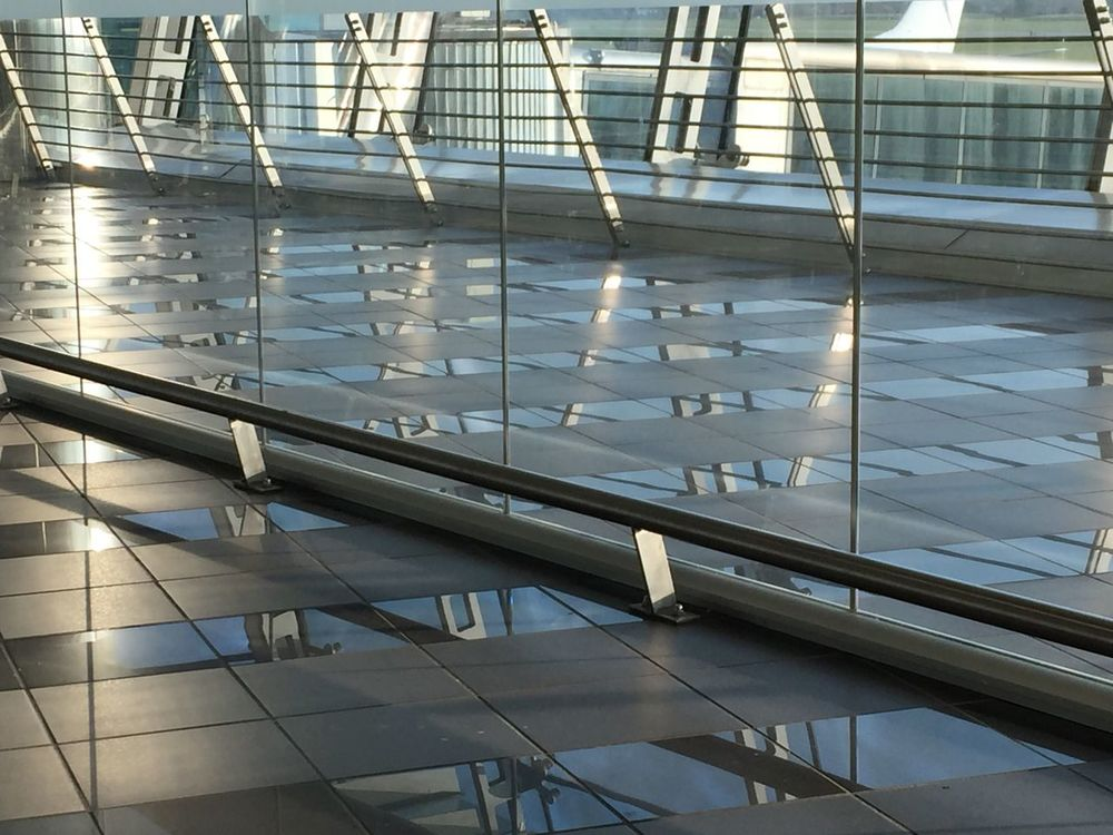 Indoors  Modern Architecture Built Structure Airport No People Day The Purist (no Edit, No Filter) Purist No Edit No Filter Purist In Photography From My Point Of View Eye4photography  IPhoneography Pattern Reflection
