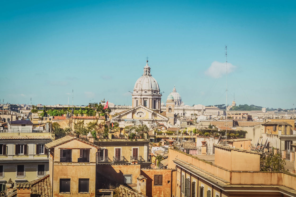 Panorama of Italy. Spiers of the city. Buildings and houses of the Italian street Architecture Dome Sky Outdoors No People Travel Destinations Building Exterior Politics And Government Cityscape Italy Italy Photos Italy Landscape Sityscape Italy_vacations Italianeography