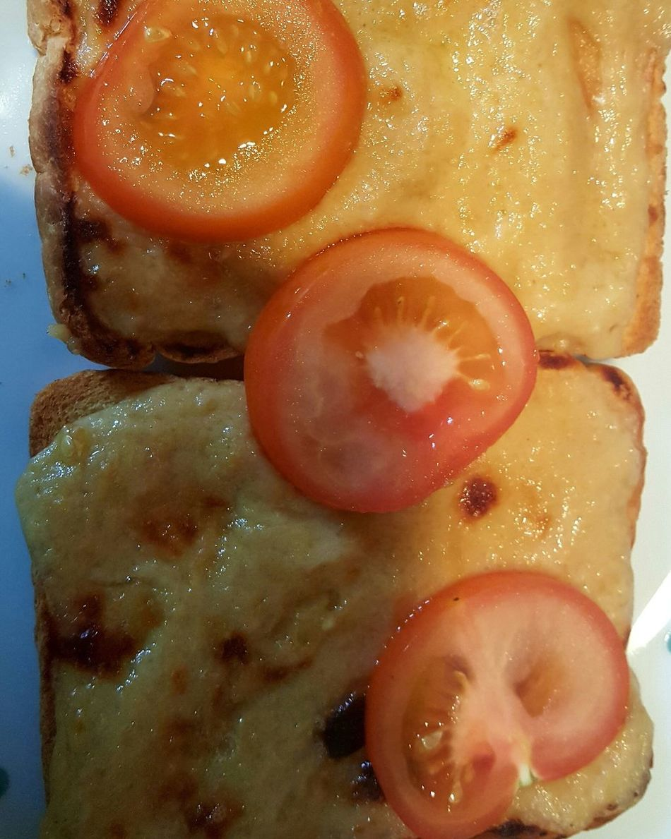 Close-up Food No People Indoors  Egg Yolk Day Cheese On Toast Welsh Rarebit