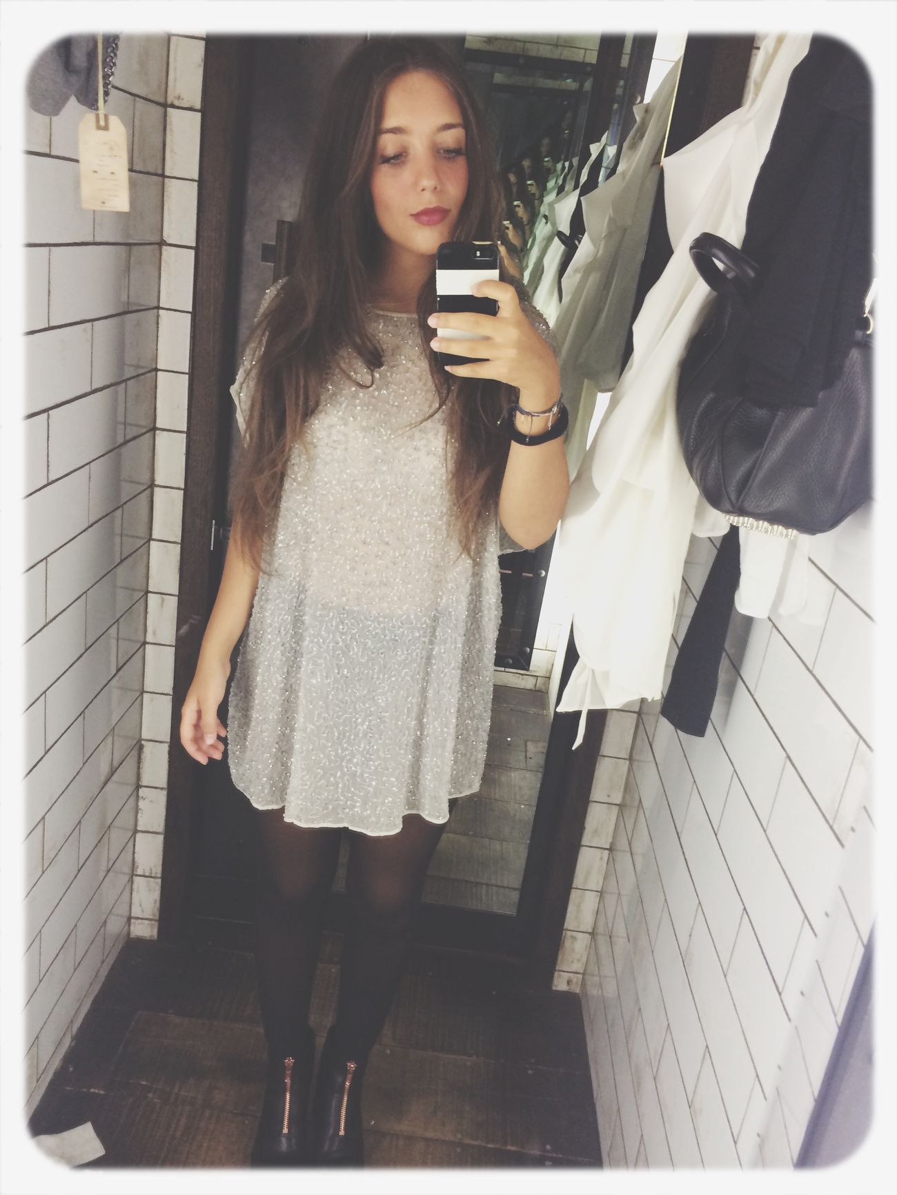 Finding An Outfit Mirror White Love