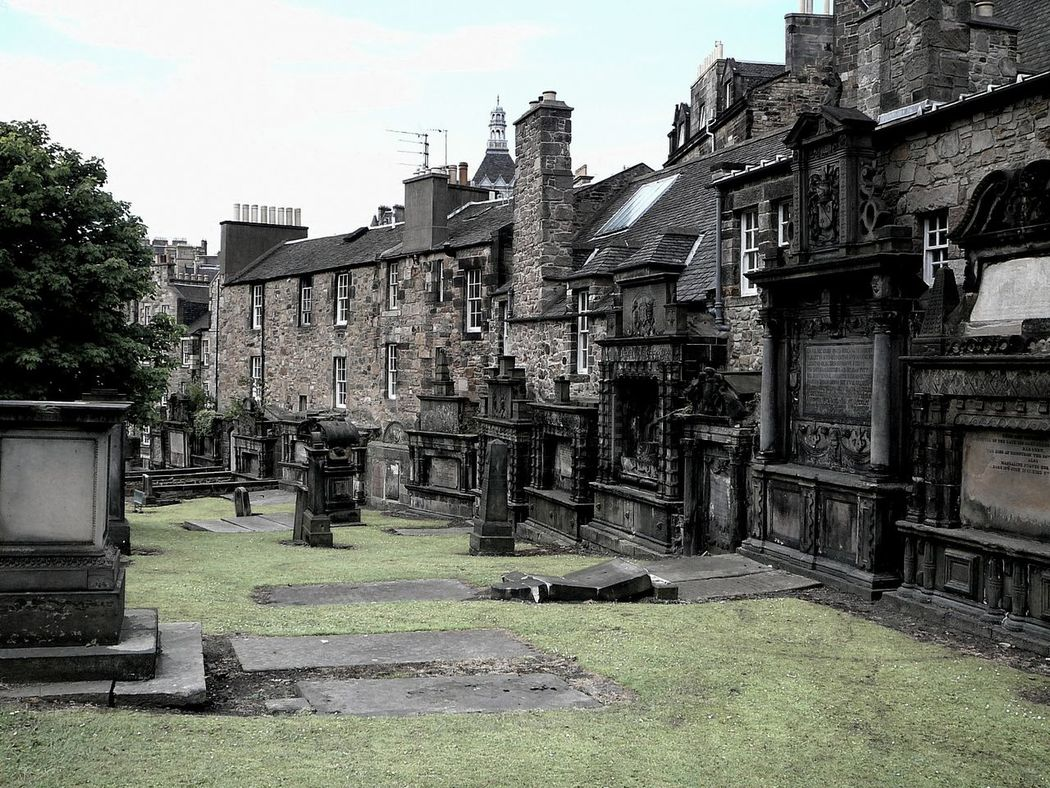 GreyFriar's Kirkyard ~ Architecture Building Exterior Built Structure Day Grass Graves Gravestones Graveyard Greyfriars No People Outdoors Scotland Sky Stone Wall Travel Destinations