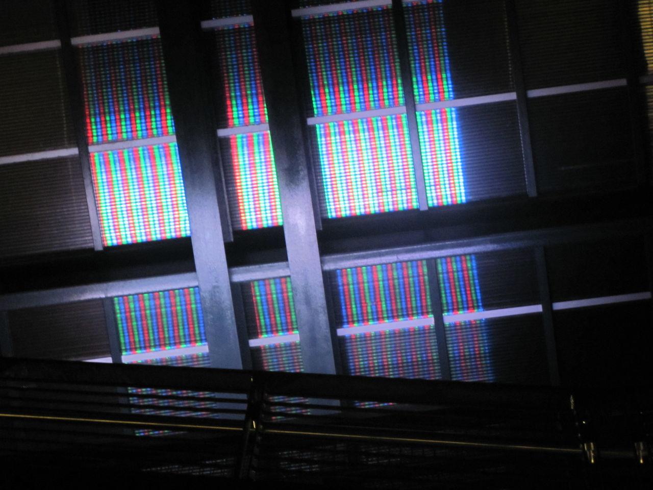 Built Structure Illuminated JacksonvilleFL Multi Colored Pattern