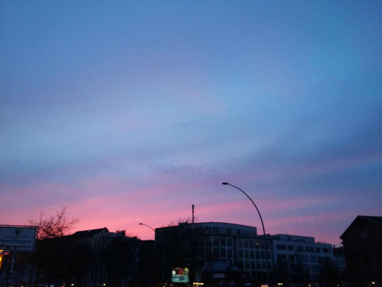 Pink blue purple sky. · Hamburg germany 040 Hamburg meine Perle sunset evening sky Evening beauty Colors urban landscape