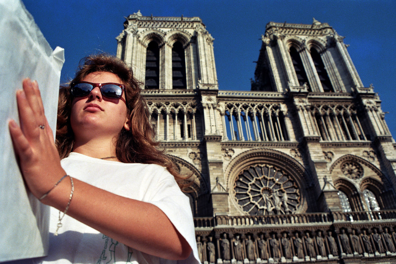 A Teenager in Paris Architecture Cathedral History Low Angle View Notre Dame De Paris Sky Sunglasses Travel Young Adult