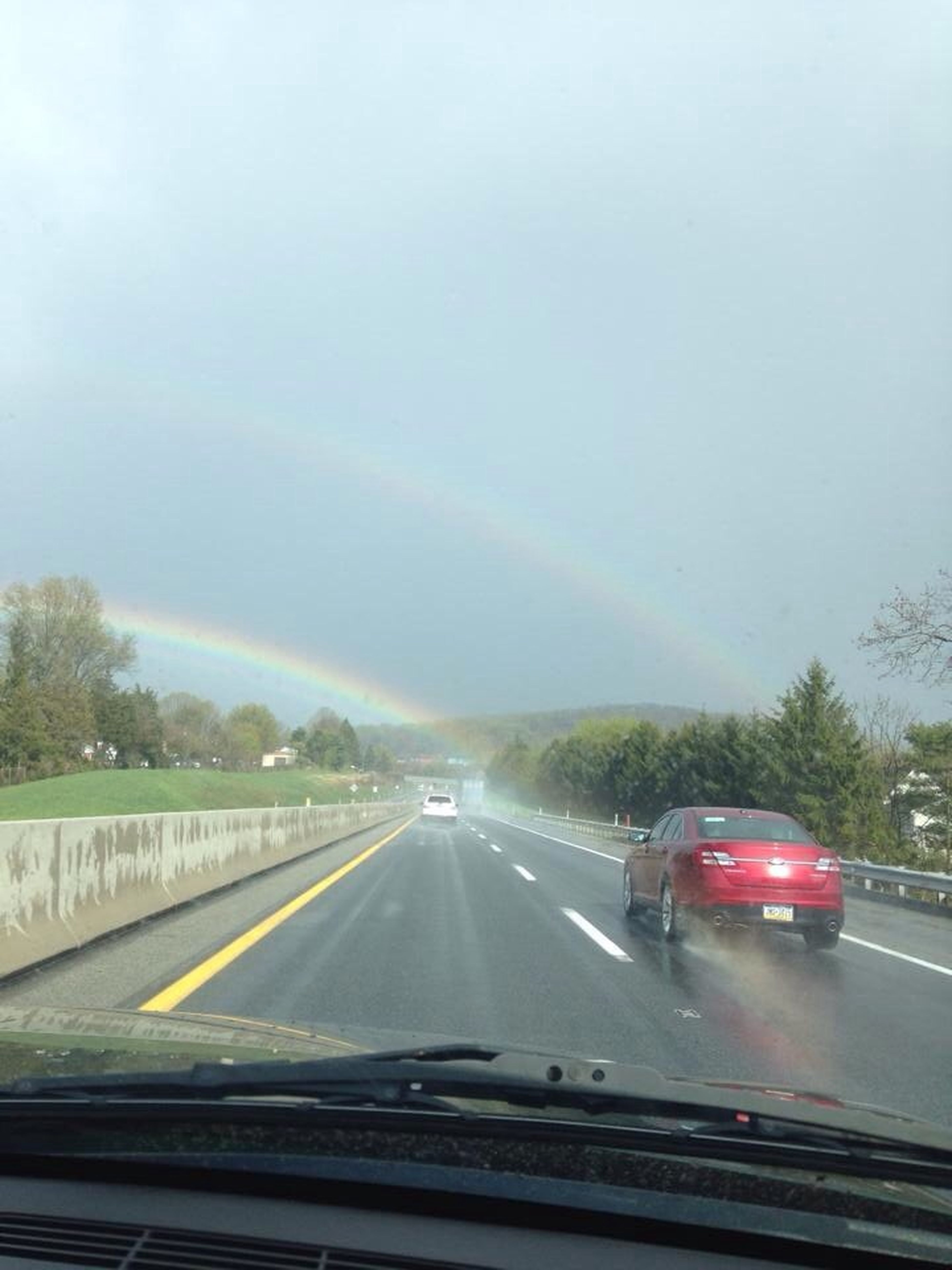 Spotted a double rainbow as I was driving home Double Rainbow ATouristInMyOwnCity TheVille Streamzoofamily