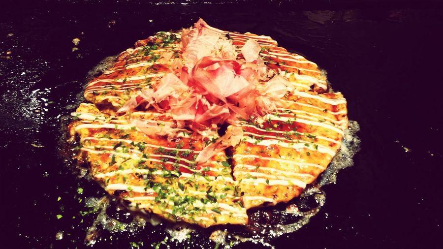 Okonomiyaki Hungry Japanese Food Japan Typical Japanese